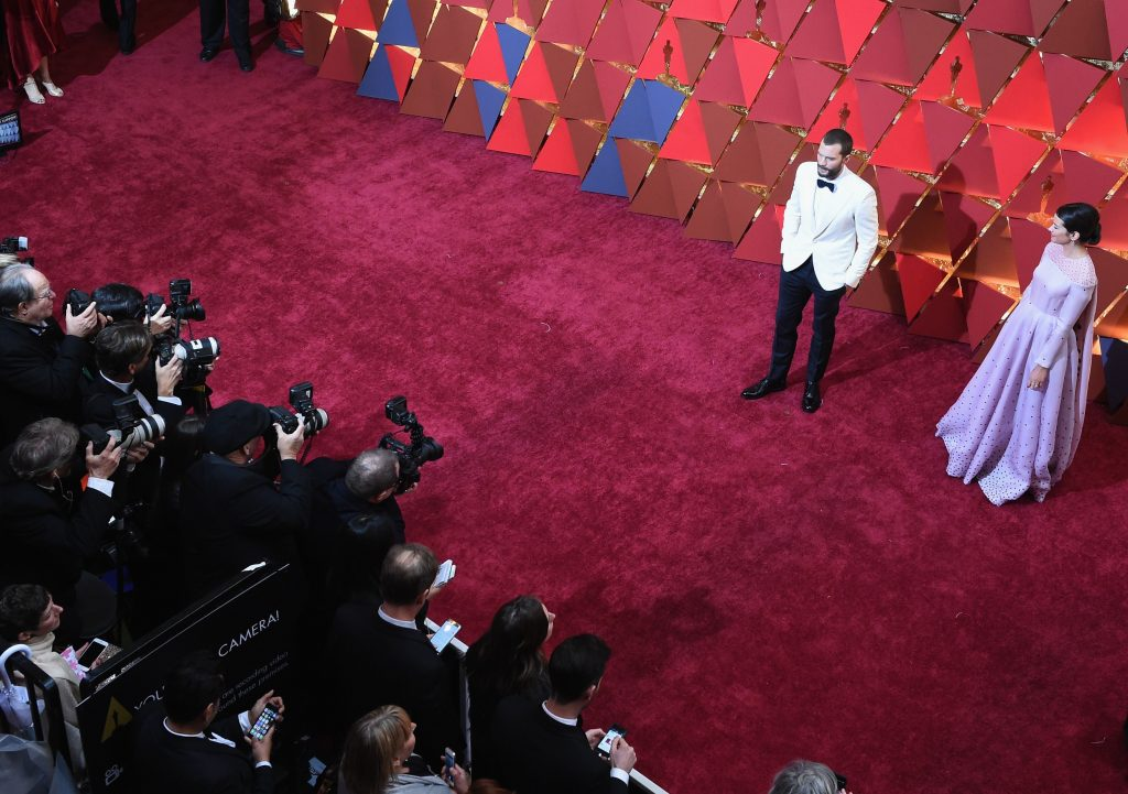 Jamie Dornan Amelia Warner Oscars 2017 3