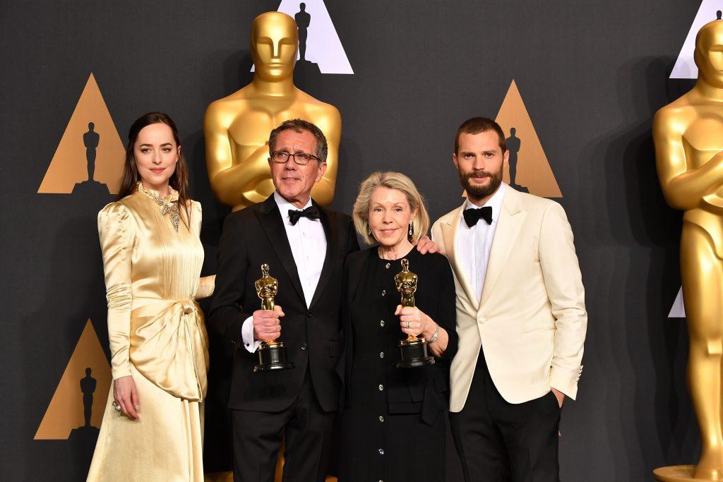Jamie Dornan Dakota Johnson Oscars 2017