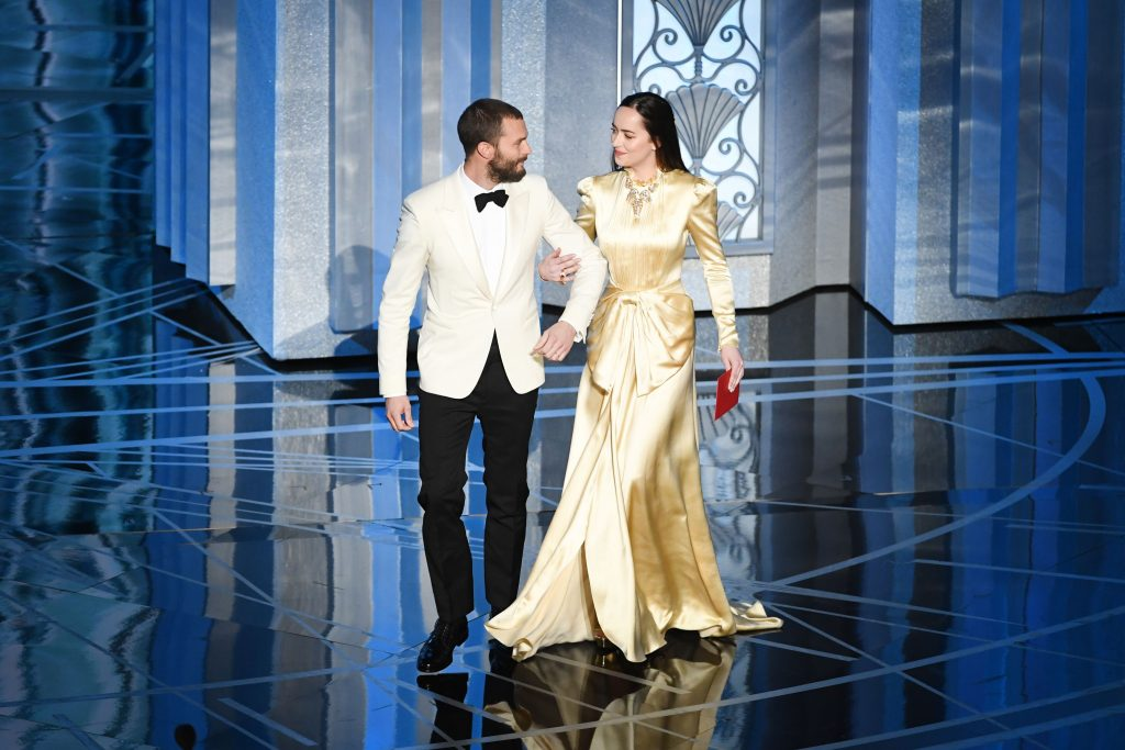Jamie Dornan Dakota Johnson Oscars 2017 2