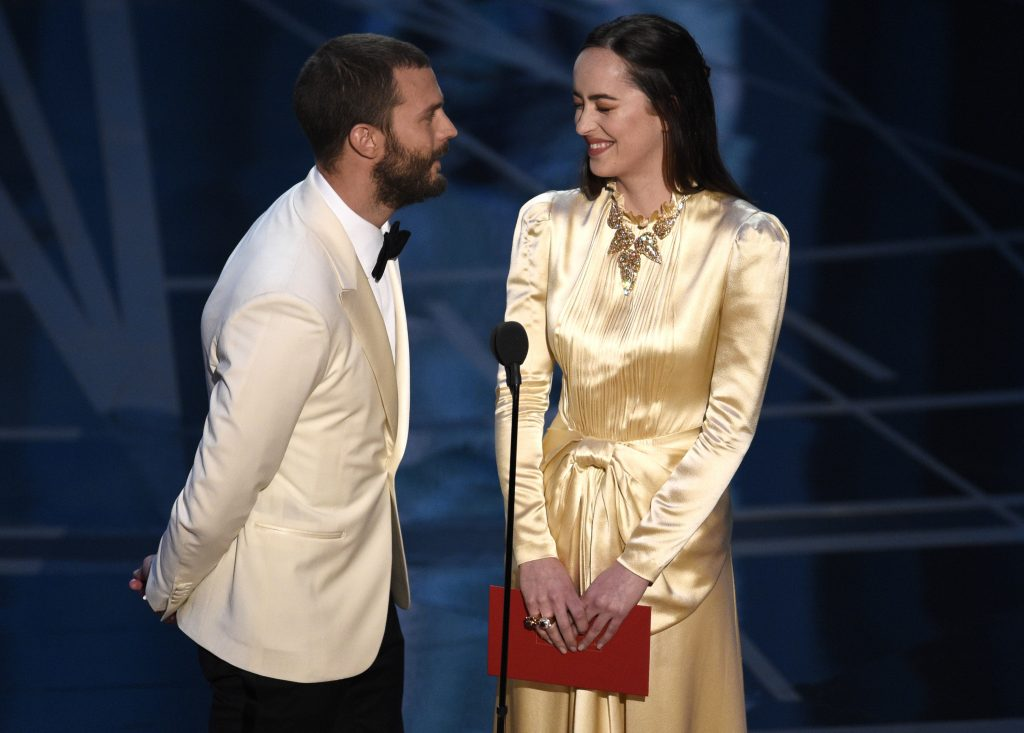 Jamie Dornan Dakota Johnson Oscars 2017 5