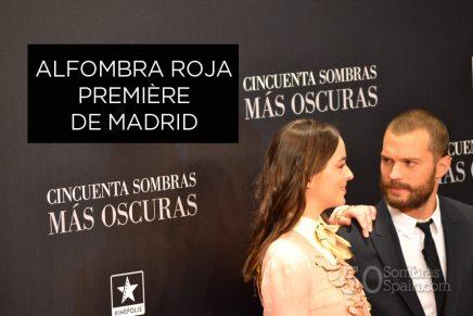 Alfombra roja Première 50 Sombras Más Oscuras en Madrid (parte 2)