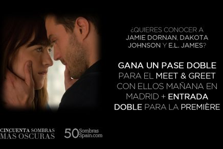 SUPERCONCURSO en Twitter para conocer a Jamie, Dakota y E.L. James en Madrid + entrada doble para la Première