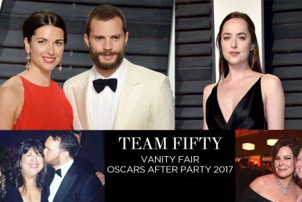 Jamie, Dakota y otros miembos del Equipo 50 Sombras en la After Party de Vanity Fair tras los Oscars