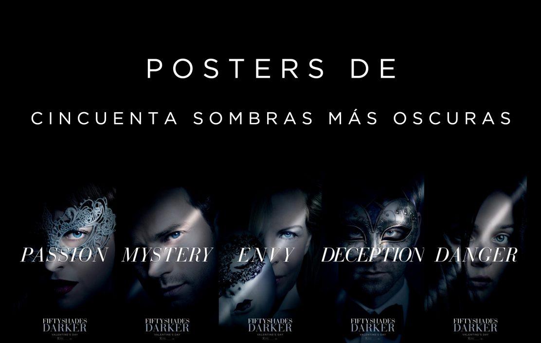 Nuevos Posters De Cincuenta Sombras Más Oscuras 50 Sombras