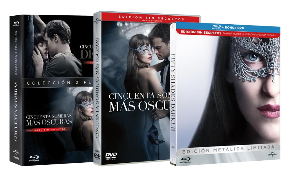 Ediciones 50 Sombras Más Oscuras DVD BR