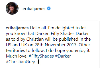 EL James Darker Grey