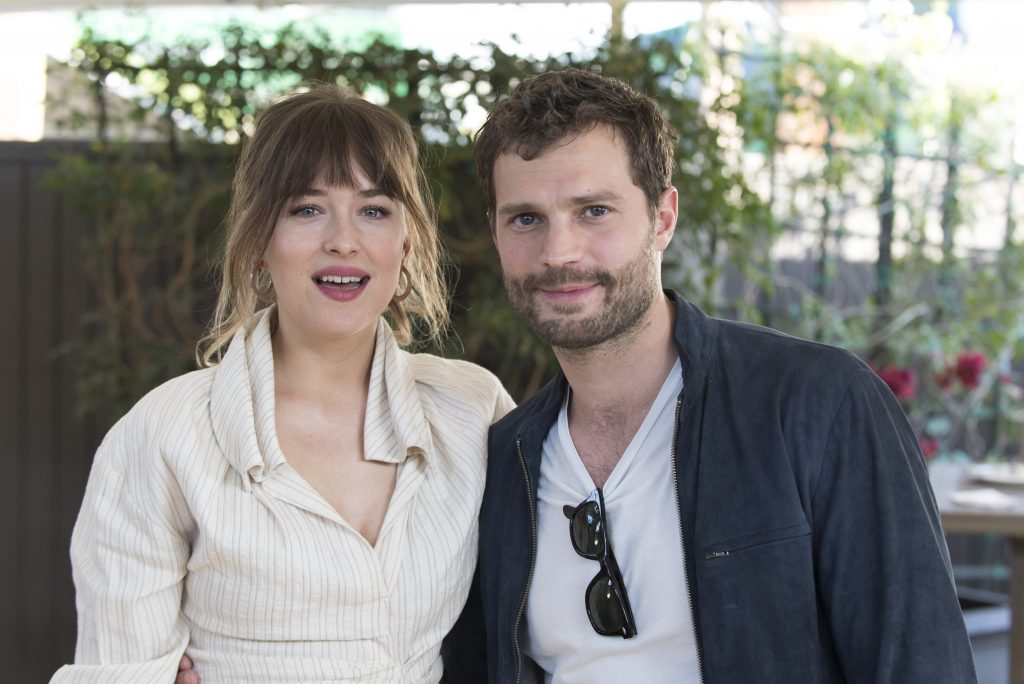Dakota Johnson, Jamie Dornan auf der Pk von 50 Shades Freed in West Hollywood / 240118 *** 50 Shades Freed press conference, West Hollywood, USA - 24 Jan 2018 ***