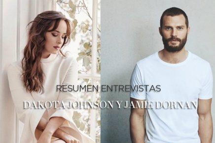 Resumen entrevistas a Dakota Johnson y Jamie Dornan para la promoción de 50 Sombras Liberadas