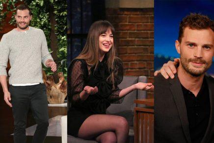Apariciones televisivas de Dakota Jonson y Jamie Dornan el 30 enero 2018