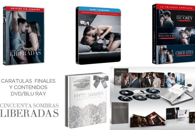 EXCLUSIVA: Carátulas finales, contenidos y TODAS todas las ediciones DVD y Blu-Ray de Cincuenta Sombras Liberadas