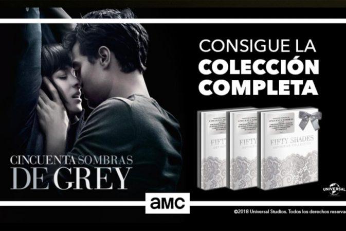 El canal de televisión AMC estrena 50 Sombras de Grey y sortea tres packs de coleccionista con las tres películas
